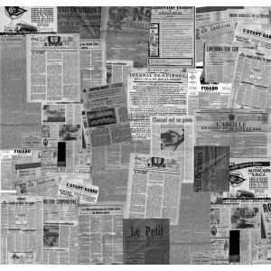Papier peint journal noir blanc the wall - Papier peint journaux ...
