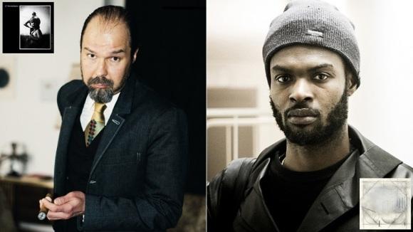 A ma gauche, Mika Vainio et son album Konstellaatio; à ma droite, Actress et son Ghettoville. DR